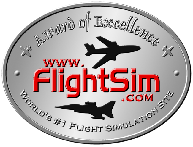 FlightSim.Com Award of Excellence