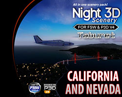 Taburet - Night3D California and Nevada FSW/P3D