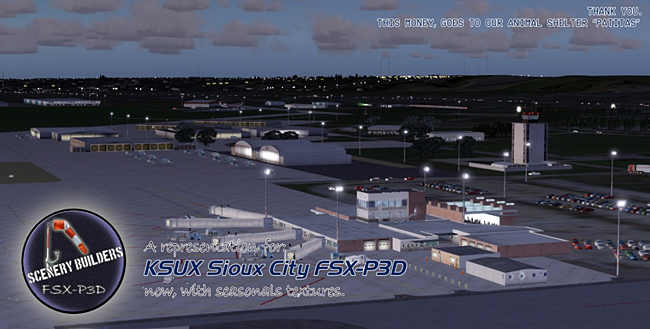 FSX-P3D Scenery - KSUX Sioux City