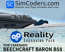 Reality Expansion Pack for Carenado Beech Baron B58