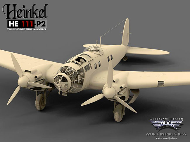 Aeroplane Heaven Previews Heinkel HE 111 P2