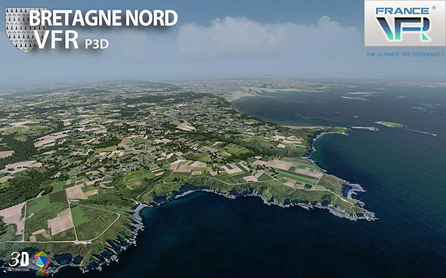 France VFR Bretagne VFR 3DA Vol.1 for P3Dv4
