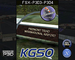 FSX-P3D Scenery - KGSO Piedmont Triad International Airport