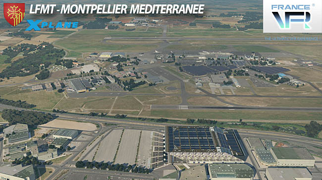 France VFR - Montpellier Medeterranee Apr for X-Plane 11