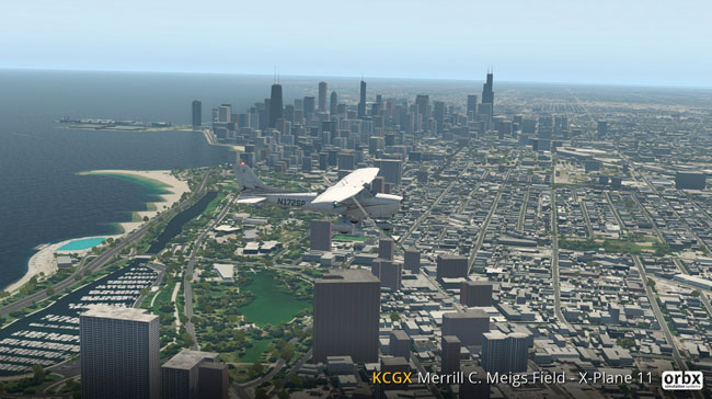 Orbx - KCGX Meigs Field for X-Plane 11