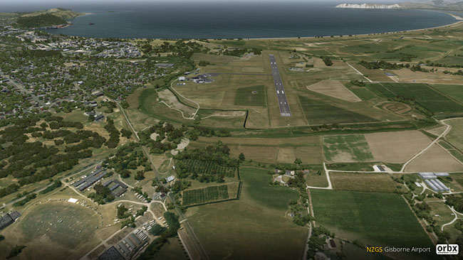 Orbx - NZGS Gisborne Airport overview