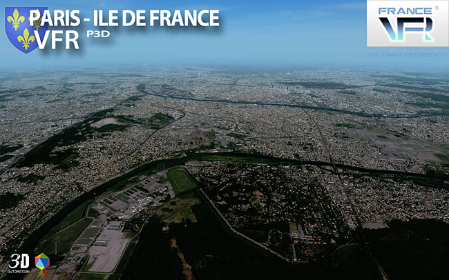 France VFR - Paris-Ile de France VFR 3DA for P3DV4