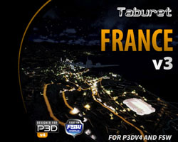 Taburet - Night 3D France v3 for P3Dv4 and FSW