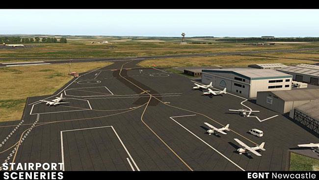 Newcastle EGNT For XP11 From Aerosoft / Stairport