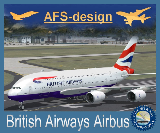 AFS-Design Releases British Airways Airbus For FSX