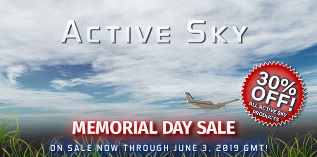Active Sky Memorial Day Sale
