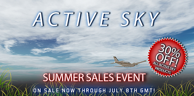 Active Sky Summer Sales Event