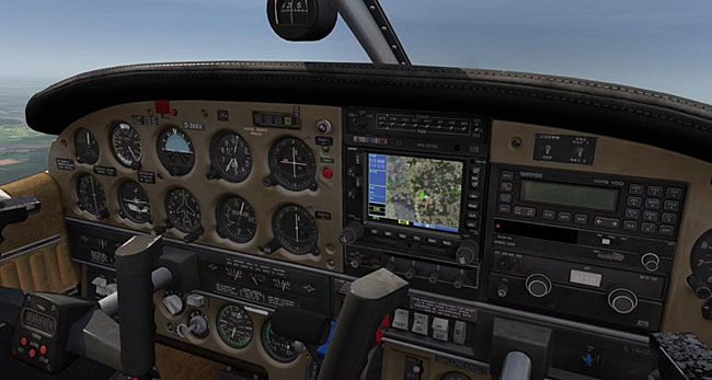 Just Flight Turbo Arrow For Aerofly FS 2 cockpit