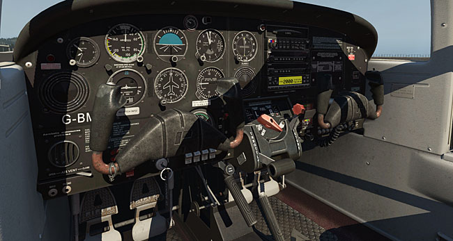 Just Flight - PA-38 Tomahawk For X-Plane 11 cockpit