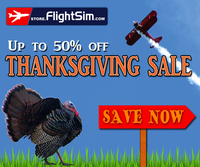 Thanksgiving Sale at FlightSim.Com Store