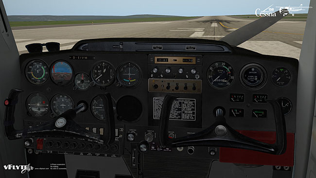 vFlyteAir Simulations - Cessna 150 Commuter cockpit