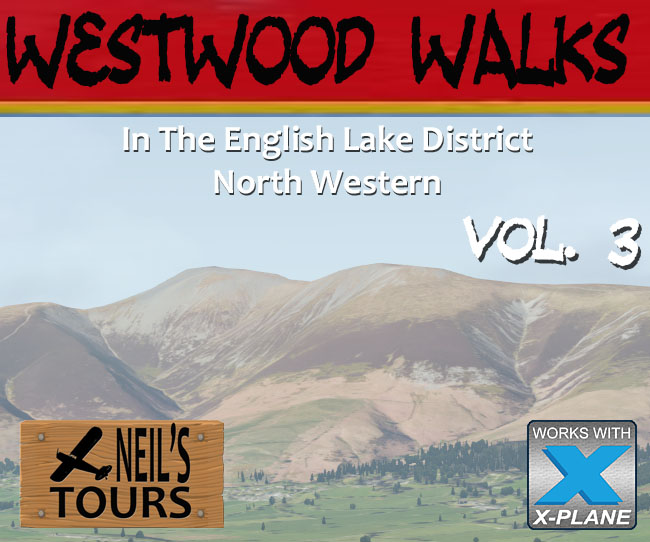 Westwood Walks In The Lake District Volume 3 North Western for X-Plane