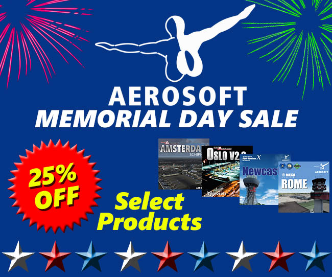 Aerosoft Memorial Day Sale