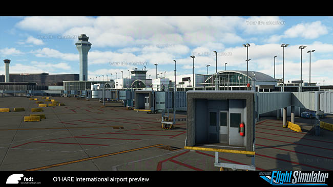 FSDreamTeam Further Preview Of O'Hare For MSFS