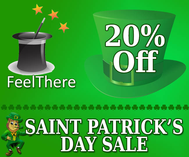 FeelThere Saint Patrick's Day Sale
