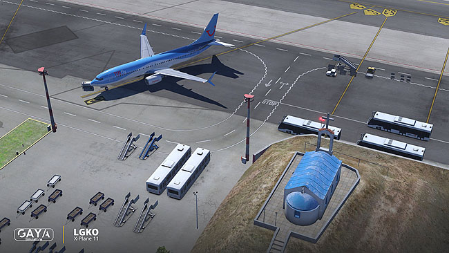 Gaya Simulations Kos: The Airport in X-Plane 11