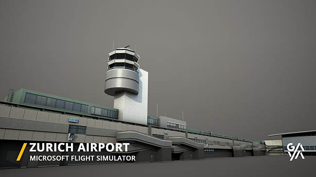 Gaya Simulations Teases Zurich Airport For MSFS