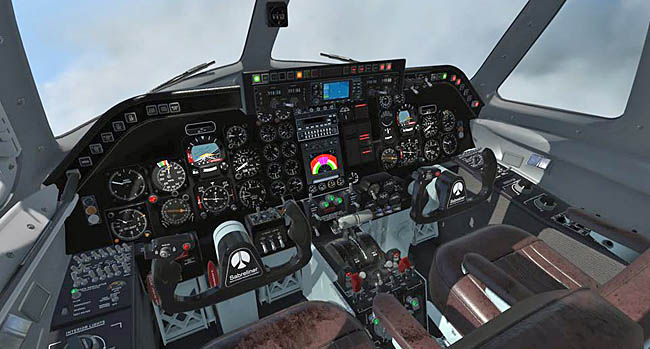 Aeroplane Heaven Sabreliner For P3D v4/v5 cockpit