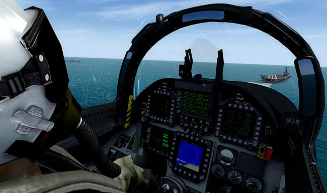 Just Flight - DC Designs FA-18 E, F & G Super Hornet cockpit