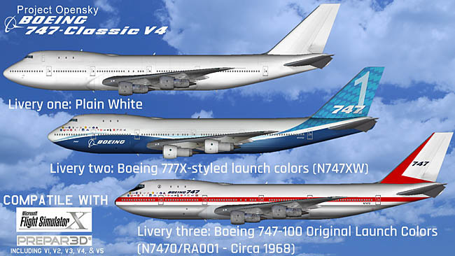 FSX/P3D Project Open Sky Boeing 747-100 v4 Native Conversion Base Pack Released