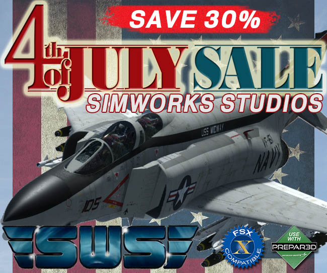 Simworks Studios 4th of July Sale