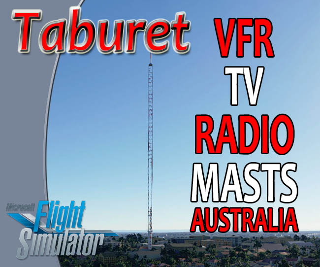 Taburet - Australia VFR Radio and TV Masts for MSFS