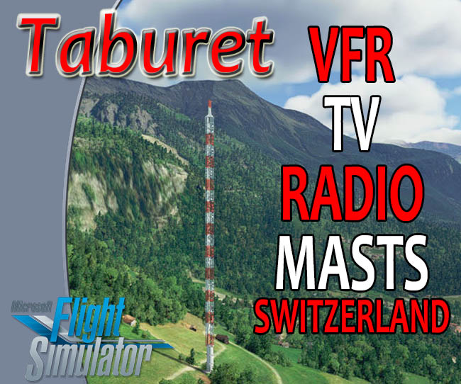 Taburet - Switzerland VFR Radio and TV Masts for MSFS