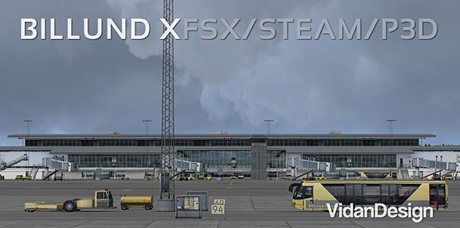 Vidan Designs - Billund X scenery for Microsoft Flight Simulator FSX and Prepar3D
