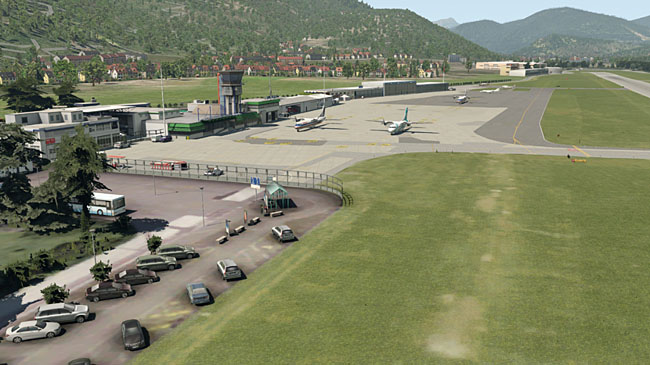 Lugano Airport for X-Plane by Aerosoft
