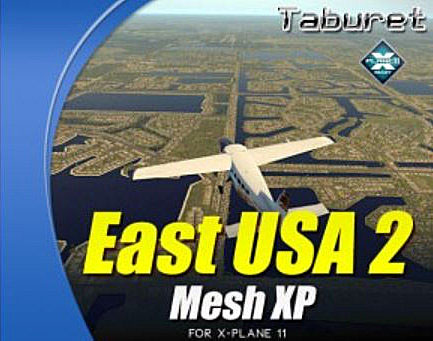 Taburet Mesh XP East USA 2 For X-Plane