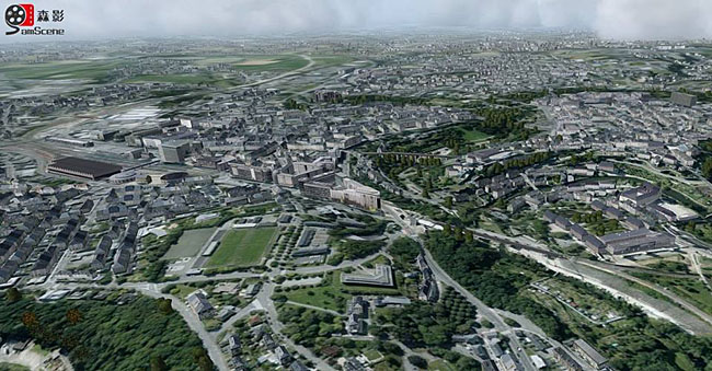 Luxembourg City flight simulator scenery by SamScene 3D