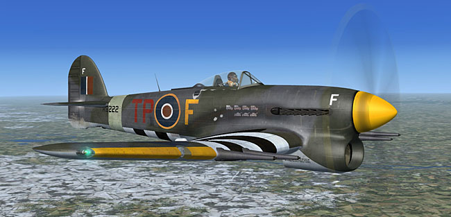 Aeroplane Heaven Hawker Typhoon Mk1B for flight simulator FSX and P3D