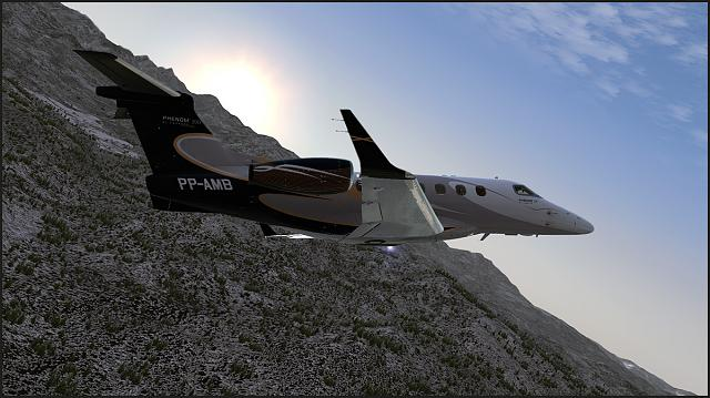 The Embraer Phenom 300 Departing from Aspen-Pitkin County