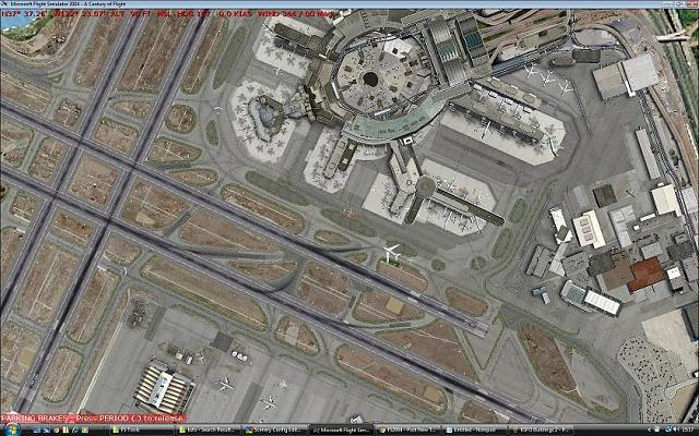 Default and Addon Scenery terminal building overlap