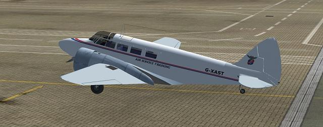 Click image for larger version.  Name:Airspeed Consul AST parked.jpg Views:28 Size:149.9 KB ID:211530