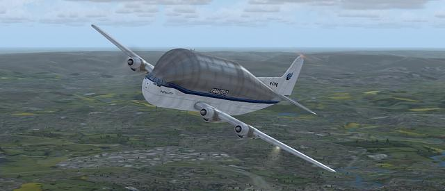 Click image for larger version.  Name:Boeing B377 Guppy Climb Out.jpg Views:23 Size:112.2 KB ID:208491
